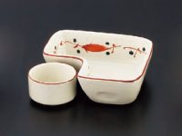 Kaiseki Serving Dish 赤絵L字皿