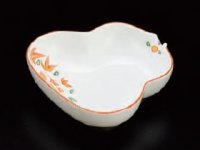 Kaiseki Serving Dish 錦花絵瓢形皿