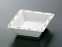 Kaiseki Serving Dish 新錦山茶花角皿